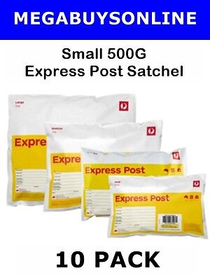 Express Post Small Prepaid Satchel (500g) 10 Pack +Invoice