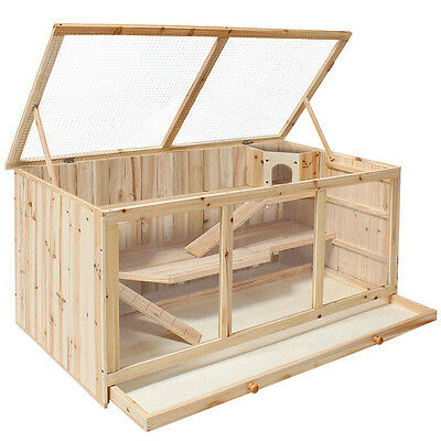 XXL Wooden Cage Villa Hamster Mouse Ferret Pet Small Animal