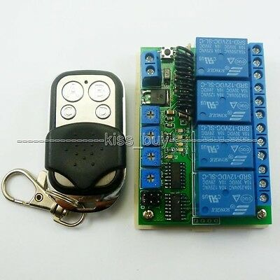 12V 4CH MultiFunction Wireless remote RF Delay Time Timer Switch Relay 315MHZ