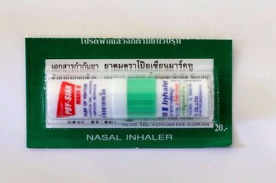 1 PC POYSIAN THAI HERB NASAL INHALER MENTHOL AND EUCALYPTUS Free shipping