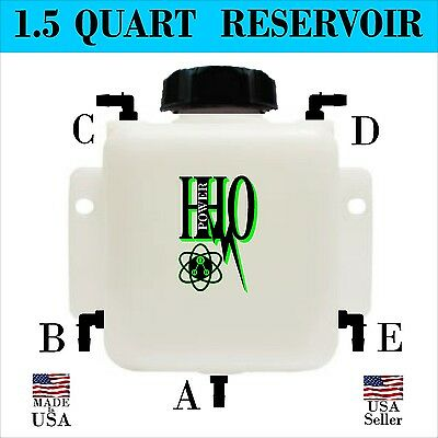 1.5 Quart HHO Heavy Duty Bubbler / Reservoir with Fittings & Cap FS