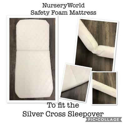 FULLY BREATHABLE COACH PRAM DELUXE SAFETY MATTRESS for Silver Cross Grosvenor