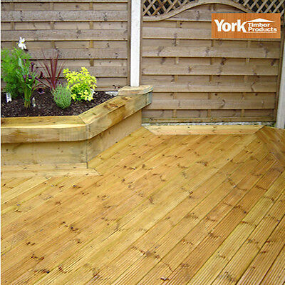 Heavy Duty Bison Tanalised Premuim garden decking Boards 100m min ord 4 delivery