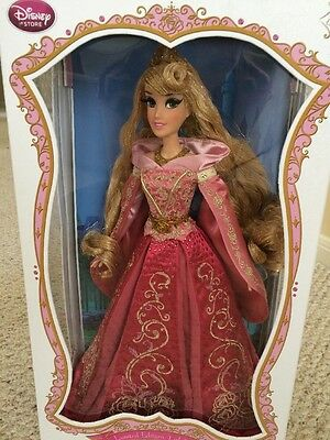 "DISNEY Store SLEEPING BEAUTY LIMITED EDITION 17"" DOLL Princess Aurora Pink Dress"