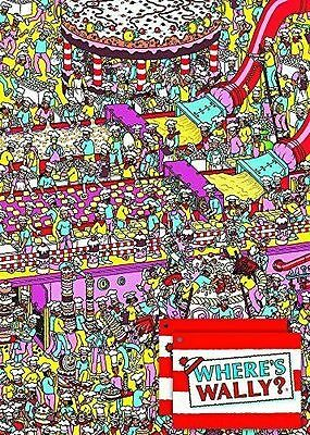 WHERE'S WALLY ? - 2 Sheets of Gift Wrapping Paper and 2 Gift Tags