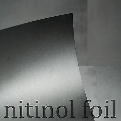 Nitinol Foil - NiTi SMA muscle wire FOIL 50C Shape Memory Alloy - by square inch