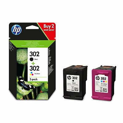 HP 302 Black & Colour Genuine Original Ink Cartridge For ENVY 4520 Printer