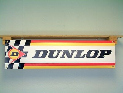 Dunlop Tyres Advertising Banner pvc sign for vintage Workshop or Garage