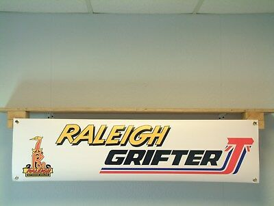 Raleigh Grifter bicycle retro look advertising banner