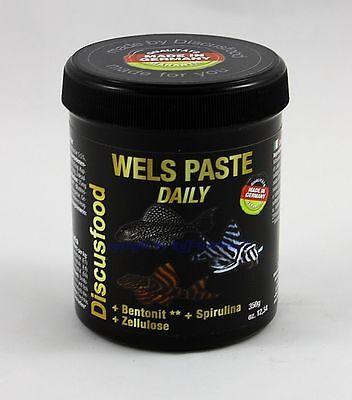 Wels Paste Daily 350g Discusfood MHD 7/16 Alleinfutter für alle Welse  61,40€/kg