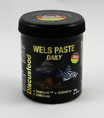 Wels Paste Daily 350g Discusfood MHD 7/16 Alleinfutter für alle Welse  34,29€/kg