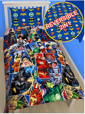 Funda Nordica Reversible Clasicos DC Comics Batman, Superman, Flash..Cama 90