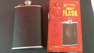 Captain morgan rhum alcohol drink collectible promotional flask New in box.