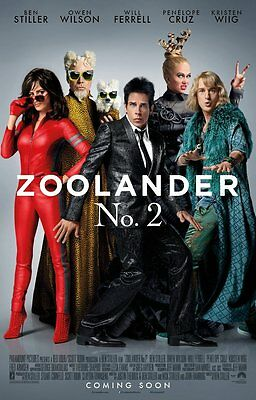 Zoolander No 2 2016 Double Sided DS Movie Poster 27x40