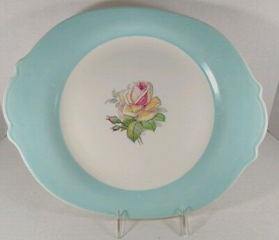 "Limoges American Tea Rose Collection 15-1/4"" Serving Platter Cotillion Blue A-49"