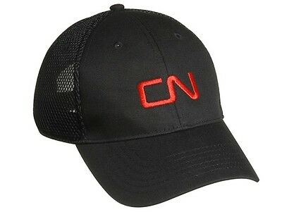 CN Canadian National Railway Ball Cap Hat - Black with Red Logo