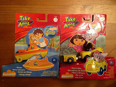 NEW IN PACKAGING Set of 2 Dora DieCast Vehicles - Take Along Nickelodeon