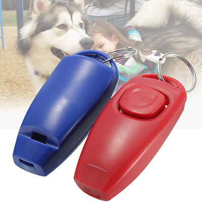 Dog Clicker & Whistle-Training,Obedience,Pet Trainer Click Puppy With Guide New