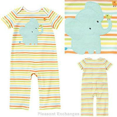 NWT Gymboree 0 3 6 9 12 18 months BRAND NEW BABY Elephant Boy Girl Unisex Romper