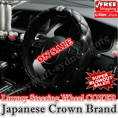 Luxury D.A.D Crown design PU leather universal auto car steering wheel cover