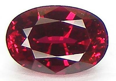 1.98CT. EXCELLENT CUT OVAL 9x6 MM. PIGEON BLOOD RED RUBY LAB CORUNDUM