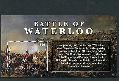Antigua & Barbuda 2015 MNH Battle of Waterloo 1815 1v S/S Napoleon Wellington