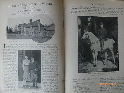 Derby Horses Kingsclere Horseracing Rare Antique Photo Article 1904 John Porter