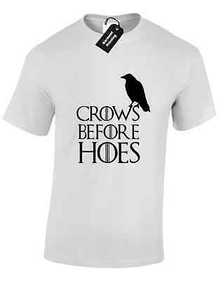 Crows Before Hoes Mens T Shirt Game Of Daenerys Jon Snow Tyrion Thrones Khaleesi