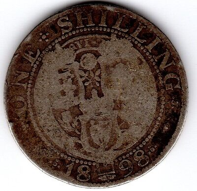 1898 12d 1s Silver ONE SHILLING twelve pence Queen Victoria Old Head (a)
