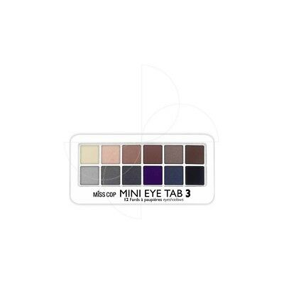 Miss Cop - Palette Mini Eye Tab 3 - 12 Fards paupières