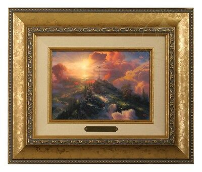 Thomas Kinkade The Cross Brushwork (Gold Frame)
