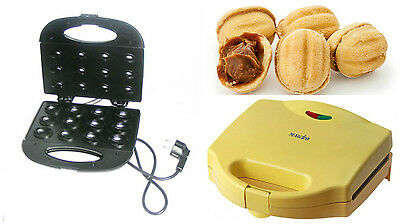 NUTS ELECTRIC Mold Sweet Maker Made Dish Cookie Baker Oreshki 12 pcs Iron USSR