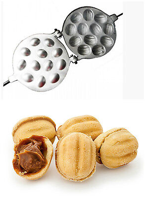 SWEET Pastry Maker Made Dish Russian Cookie Baker Oreshki Iron NUTS  9 12 16