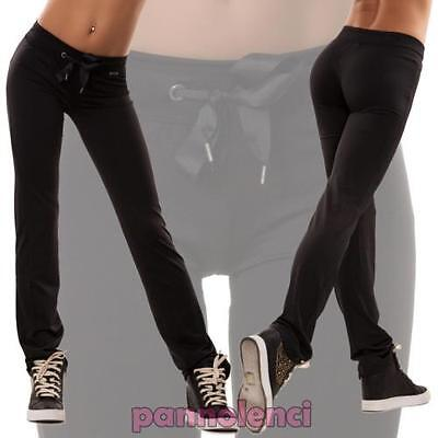 Women's trousers sport smooth transparencies elasticated fitness gym new T6105