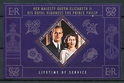 St Lucia 2011 MNH Lifetime of Service 1v S/S Queen Elizabeth II Prince Philip