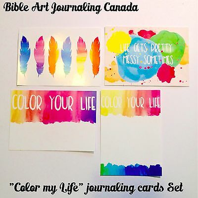 """Color my Life"" Journaling Cards Set crafting scrapbooking card set"