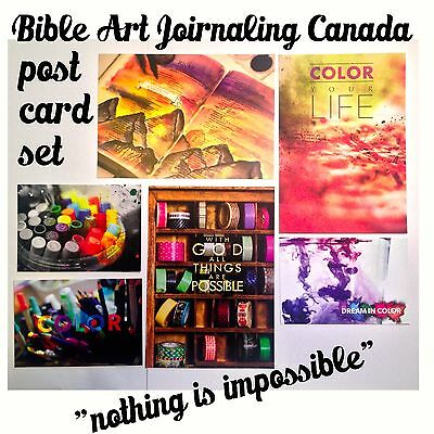 """nothing is impossible"" post card and bible journaling set scrapbooking"