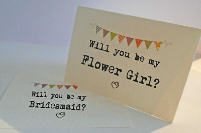 WILL YOU BE MY Flower Girl / Page Boy / Usher / Best Man card / Invite - Bunting