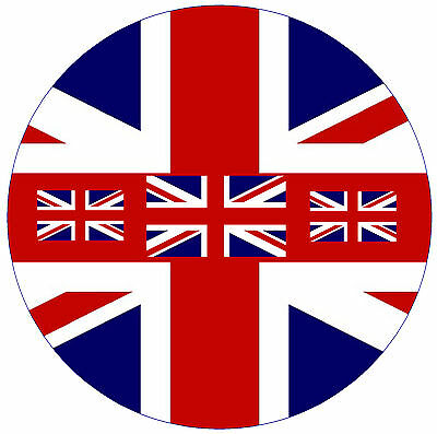 Union Jack Flag - Fun Car / Window Inside Sticker + 1 Free - Brand New - Gift