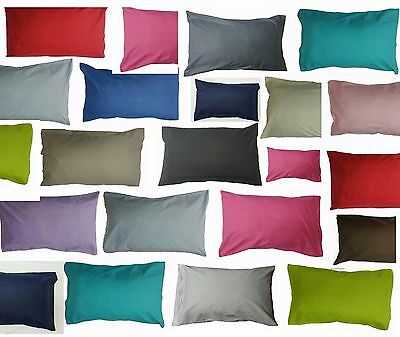 2 x Pillow Case Luxury Polycotton standard size Pair Pack Bedroom Pillow Cover