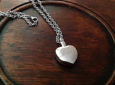 Brother engraved urn necklace cremation ashes ash keepsake pendant brother engraved urn necklace cremation ashes ash keepsake pendant mozeypictures Image collections