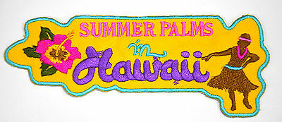 DANCING HULA GIRL HAWAIIAN Embroidered Sew Iron On Cloth Patch Badge APPLIQUE