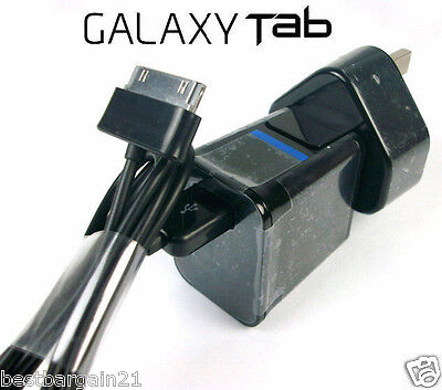 """USB Wall Charger Adapter Cable For Samsung Galaxy Tab 2 Tablet 7"""" 8.9"""" 10.1 Note"""