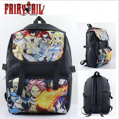 Anime Fairy Tail Backpack Shoulder Bag School Bag Student Cosplay Prop Gift
