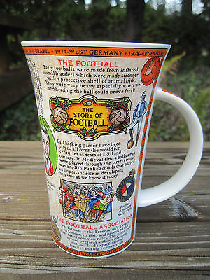 Dunoon Scotland Large Mug Cup The Story of Football Soccer Caroline Dadd England