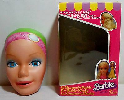 Barbie Vtg 1985 Mask Halloween Prop Italy Made Mip New Htf Rare B