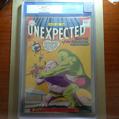 Tales of the Unexpected 40 CGC 6.0 Golden Key DC Comic 1st Space Ranger in