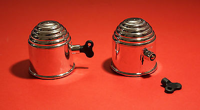 """2 x CHROME Plastic Lockable Tow Ball Cover /Cap 50mm for Swan Neck/Flange """"NEW"""""""