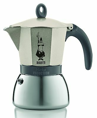 Bialetti Stainless Steel/ Aluminium Moka Induction Gold (6 Cup) 20004833