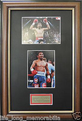Manny Pacquiao Boxing Champion Signed And Framed Photos